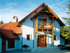 Einfamilienhaus Holz-Fenster