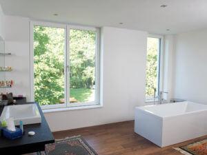 Neubau Bad Kunststoff Fenster