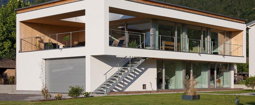 Neubau Einfamilienhaus Holz-Alu Fenster